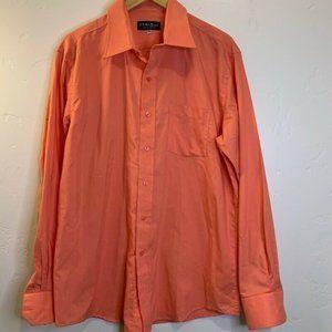 Cyrus Mens Dress Shirt Orange Spread Collar Pocket